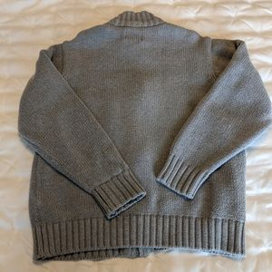 Full zip knitted sweater